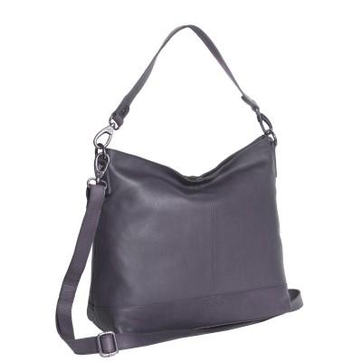 Leather Shoulder Bag Navy Amelia