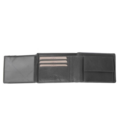 Photo of Leather Wallet Black Timo
