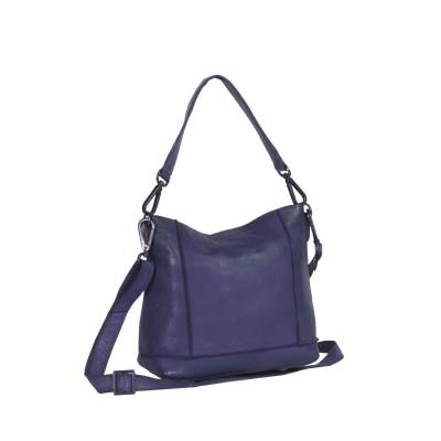 Leather Shoulder Bag Navy Alys