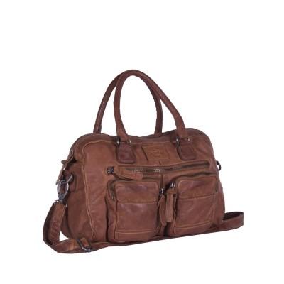 Leather Shoulder Bag Cognac Noah