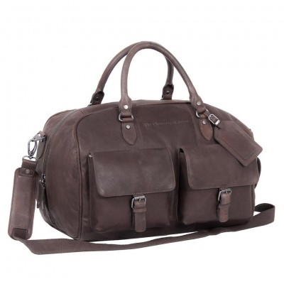 Leather Weekend Bag Brown Wesley