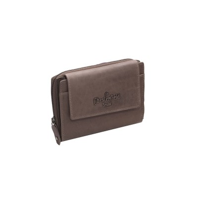 Leather Wallet Taupe Ascot