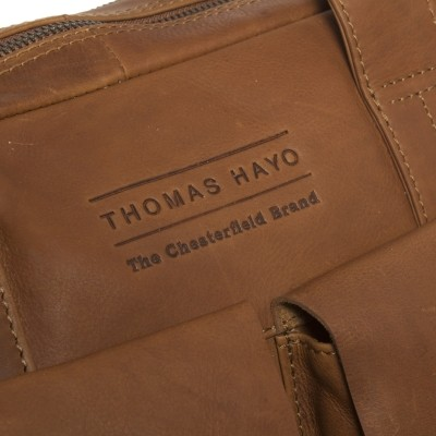 Photo of Leather Laptop Bag T8 Cognac Thomas Hayo