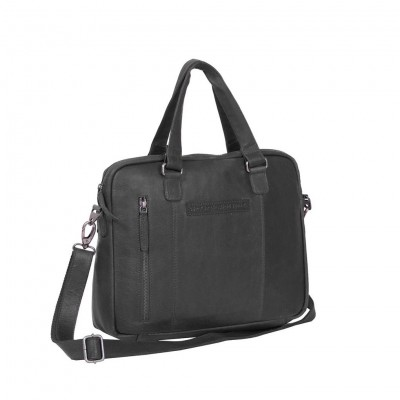 Leather Laptop Bag Black Maria