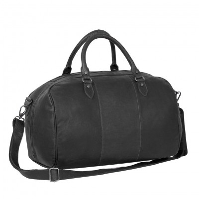 Photo of Leather Weekend Bag Black Wesley