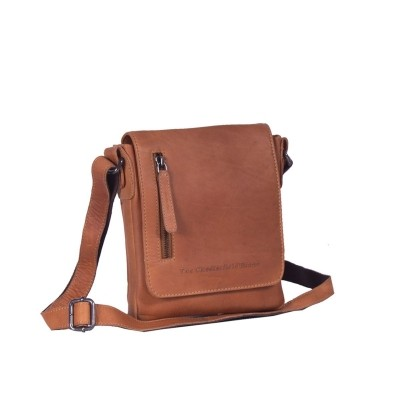 Leather Shoulder Bag Cognac Kian