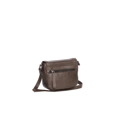 Photo of Leather Shoulder Bag Taupe June