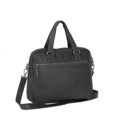 Photo of Leather Laptop Bag Black Maria