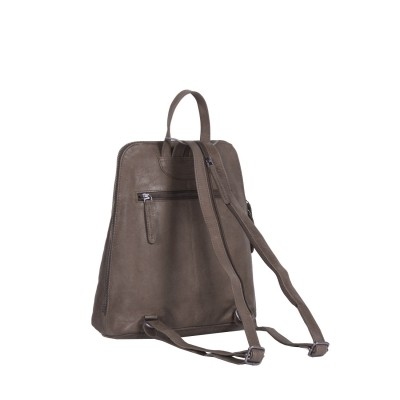Photo of Leather Backpack Taupe Claire