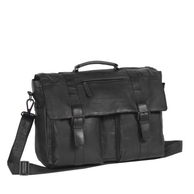 Photo of Leather Shoulder Bag Black Label Anthracite Larah