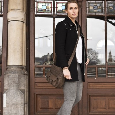 Photo of Leather Shoulder Bag Brown Monica