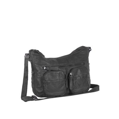 Leather Shoulder Bag Anthracite Grace