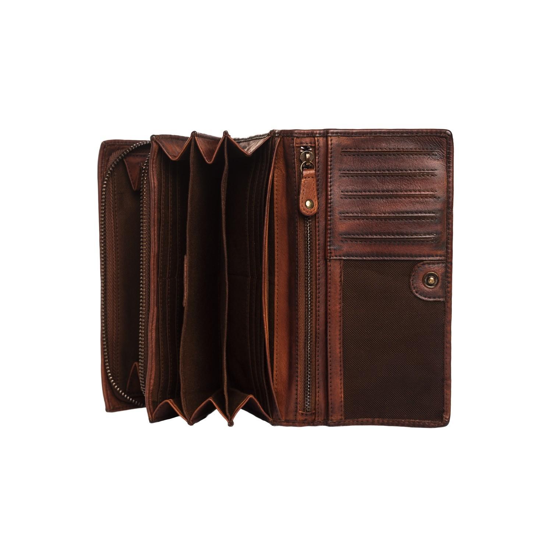 9320a1ce4d3 Leren Portemonnee Black Label Cognac Andria