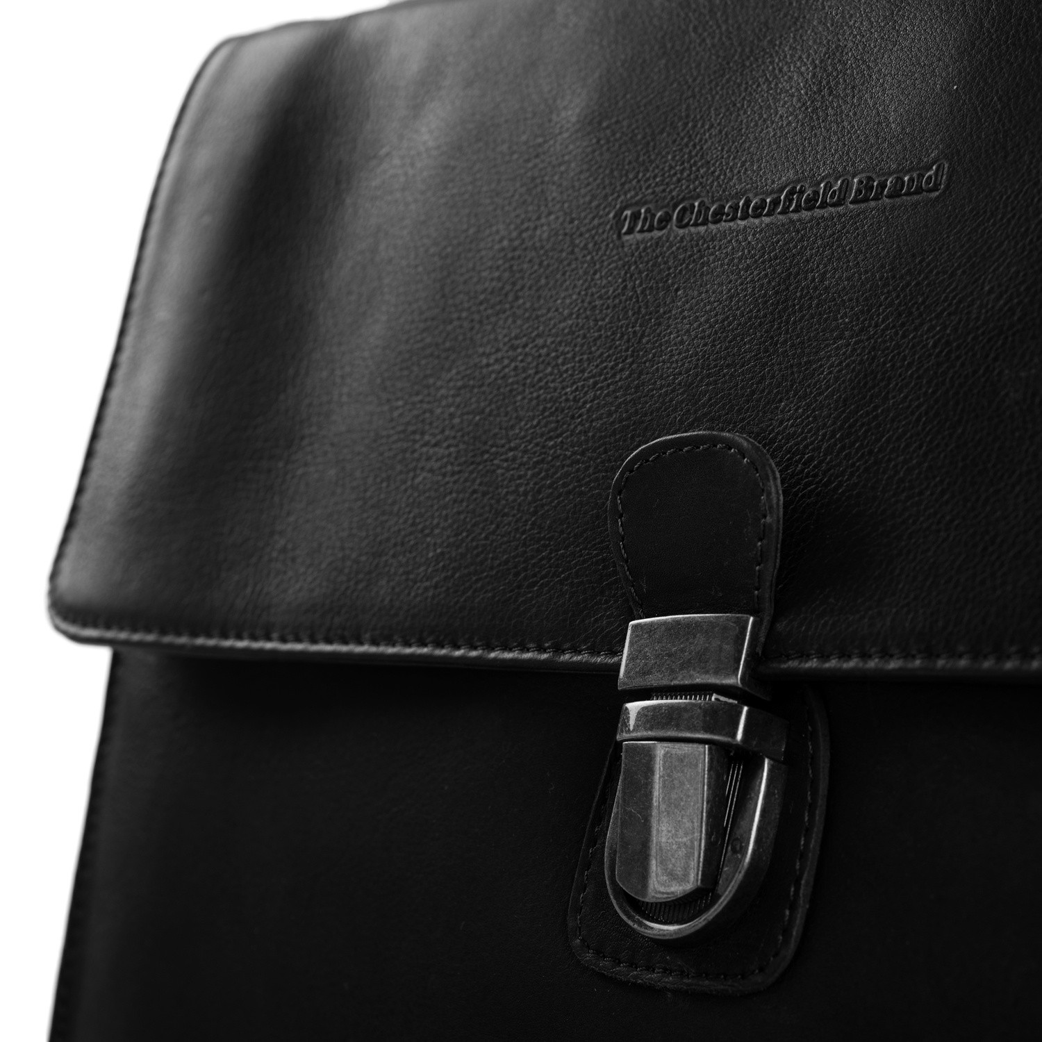 Leather Briefcase Black Brenn