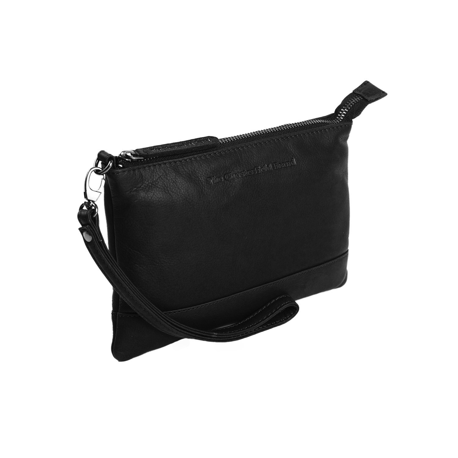 Bilde av Chesterfield Leather Clutch Black Sue