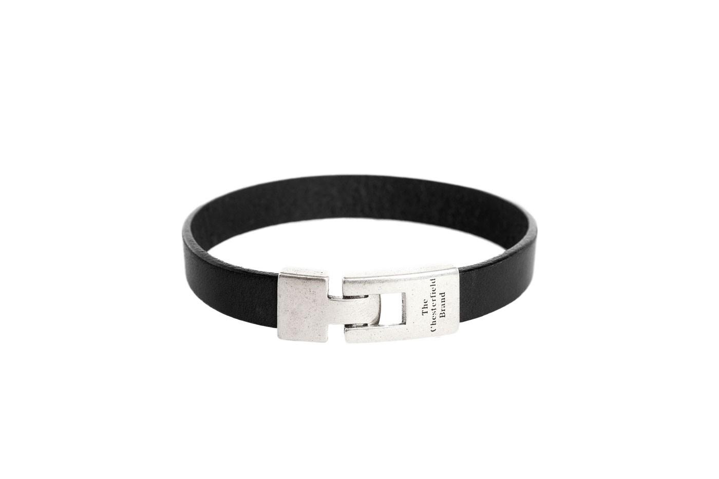Imagem de Chesterfield Leather Bracelet Black Granada