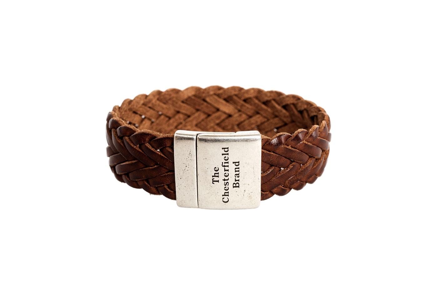 Imagem de Chesterfield Leather Bracelet Cognac Avatar