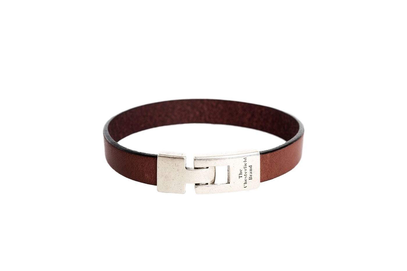 Imagem de Chesterfield Leather Bracelet Brown Granada