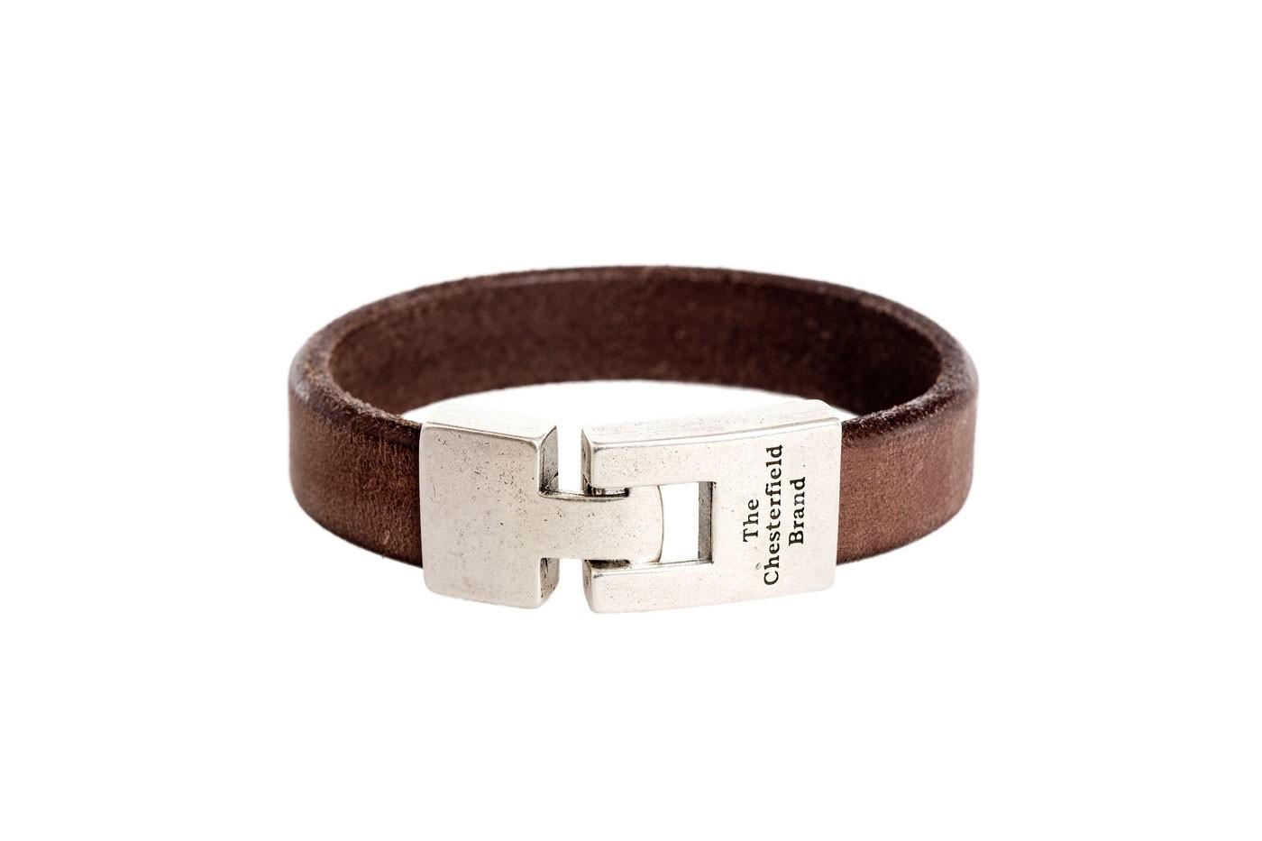 Imagem de Chesterfield Leather Bracelet Brown Marco