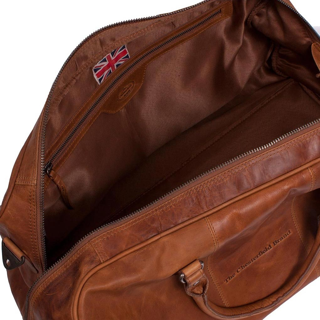 e85630f4913 Image of Leather Weekender Cognac William