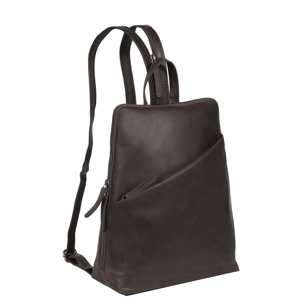 Image de Chesterfield Leather Backpack Brown Amanda