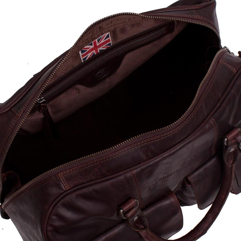 d548191fd5f Image of Leather Weekend Bag Brown Wesley