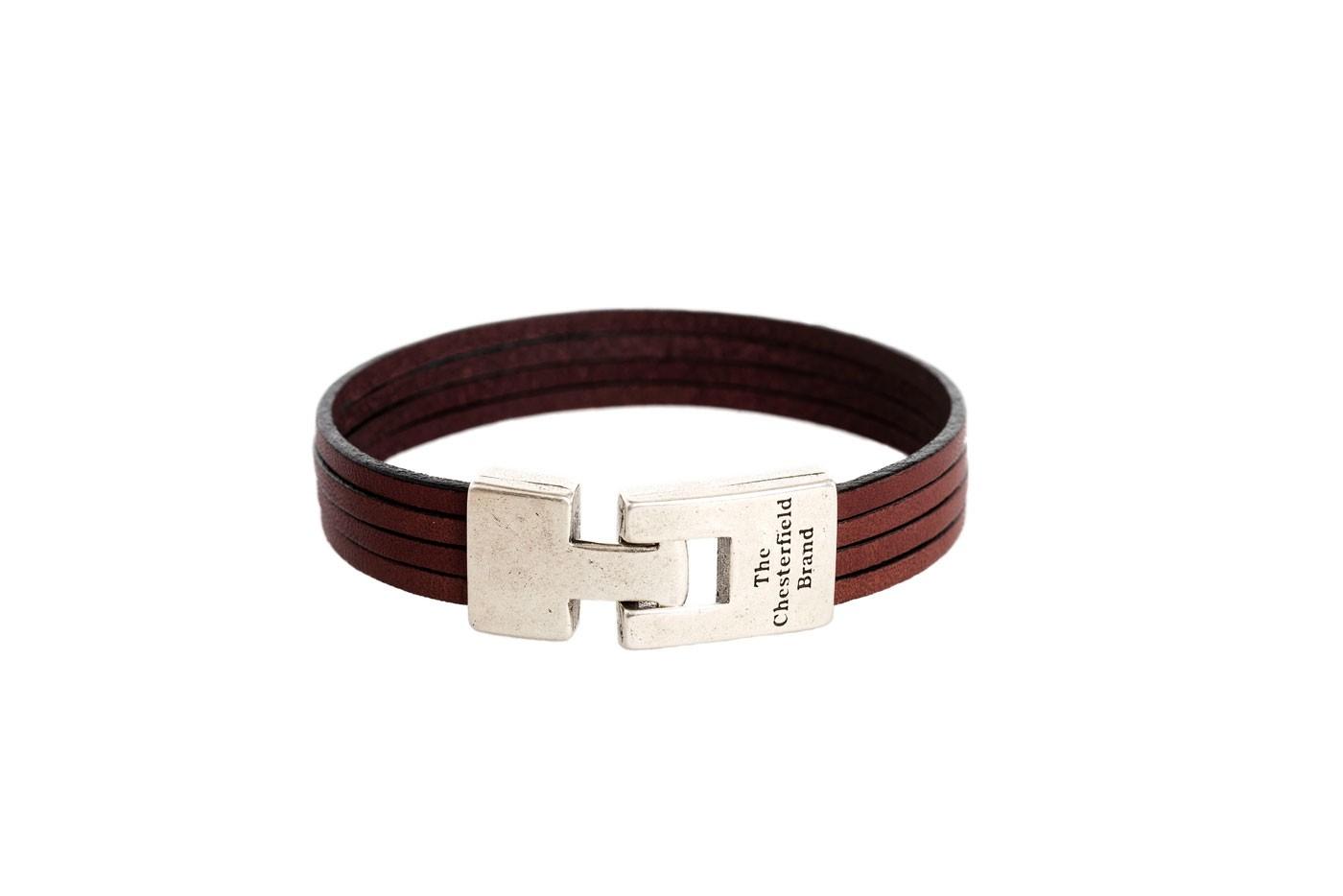 Imagem de Chesterfield Leather Bracelet Brown Katniss