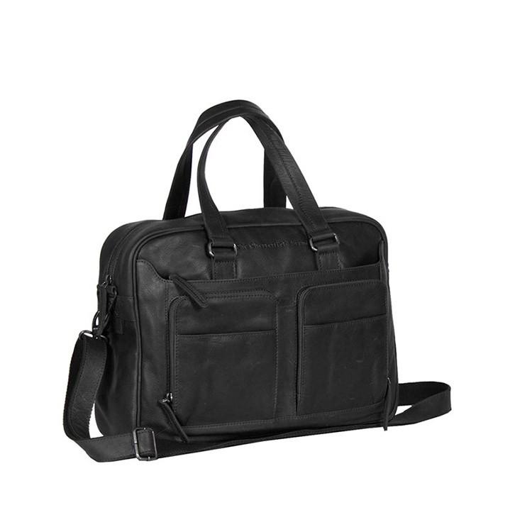 Imagem de Chesterfield Leather Laptop Bag Black Samual