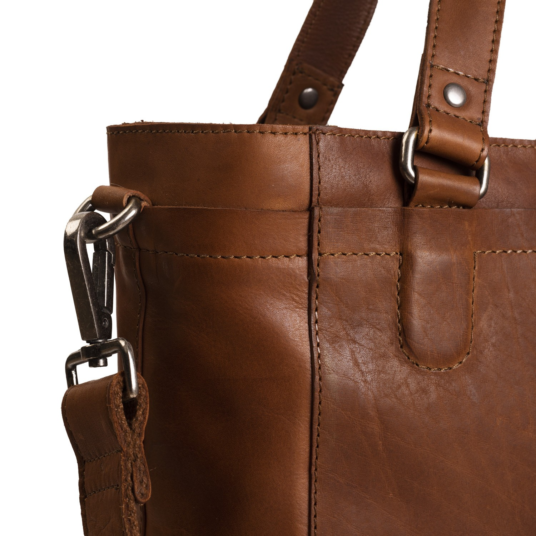 5e3358f64 Image of Leather Tote Bag Cognac Jade
