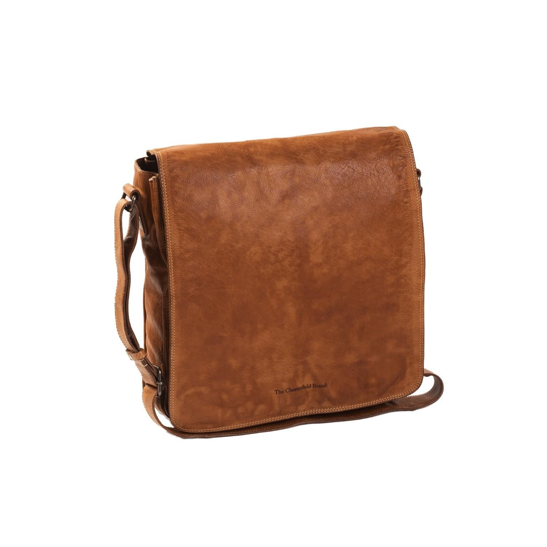 83aa8de0b84 Image of Leather Shoulder Bag Cognac Almada