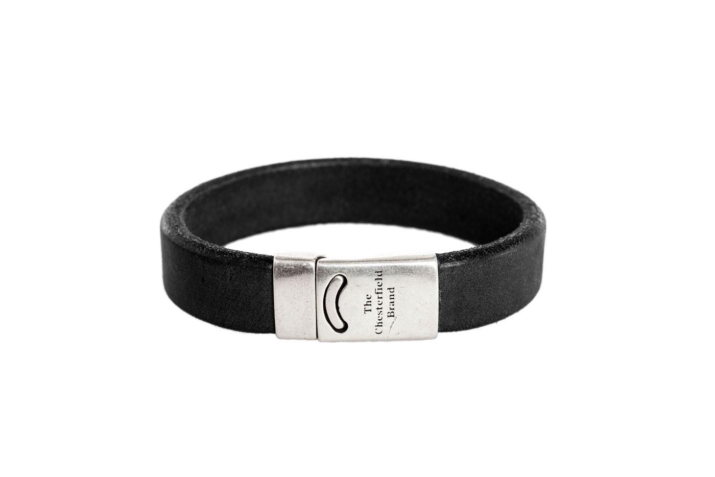 Imagem de Chesterfield Leather Bracelet Black Thor