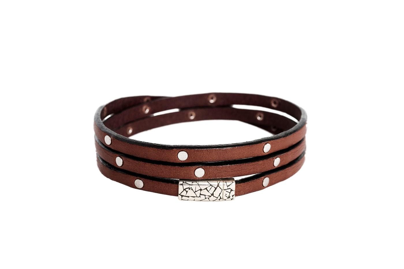 Imagem de Chesterfield Leather Bracelet Brown Jannis