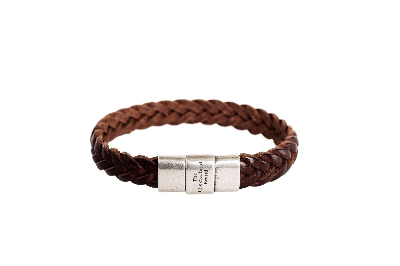 Imagem de Chesterfield Leather Bracelet Brown Java