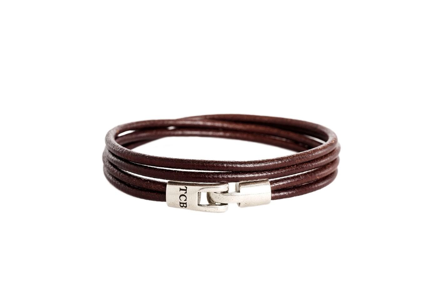 Imagem de Chesterfield Leather Bracelet Brown Trusci