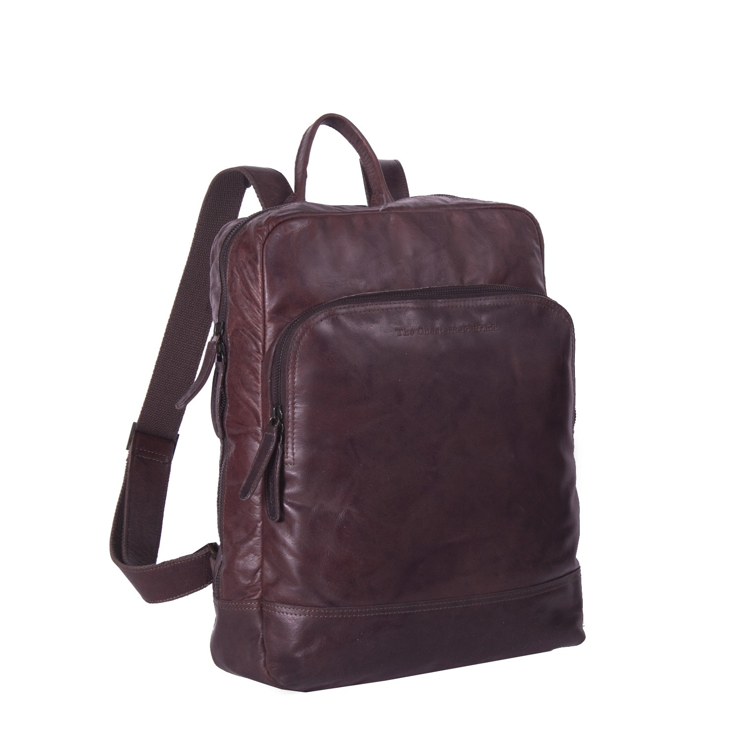 Image de Chesterfield Leather Backpack Brown Mack