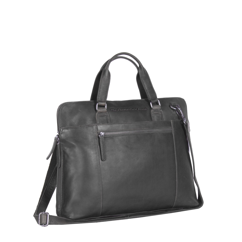 Imagem de Chesterfield Leather Laptop Bag Black Hana