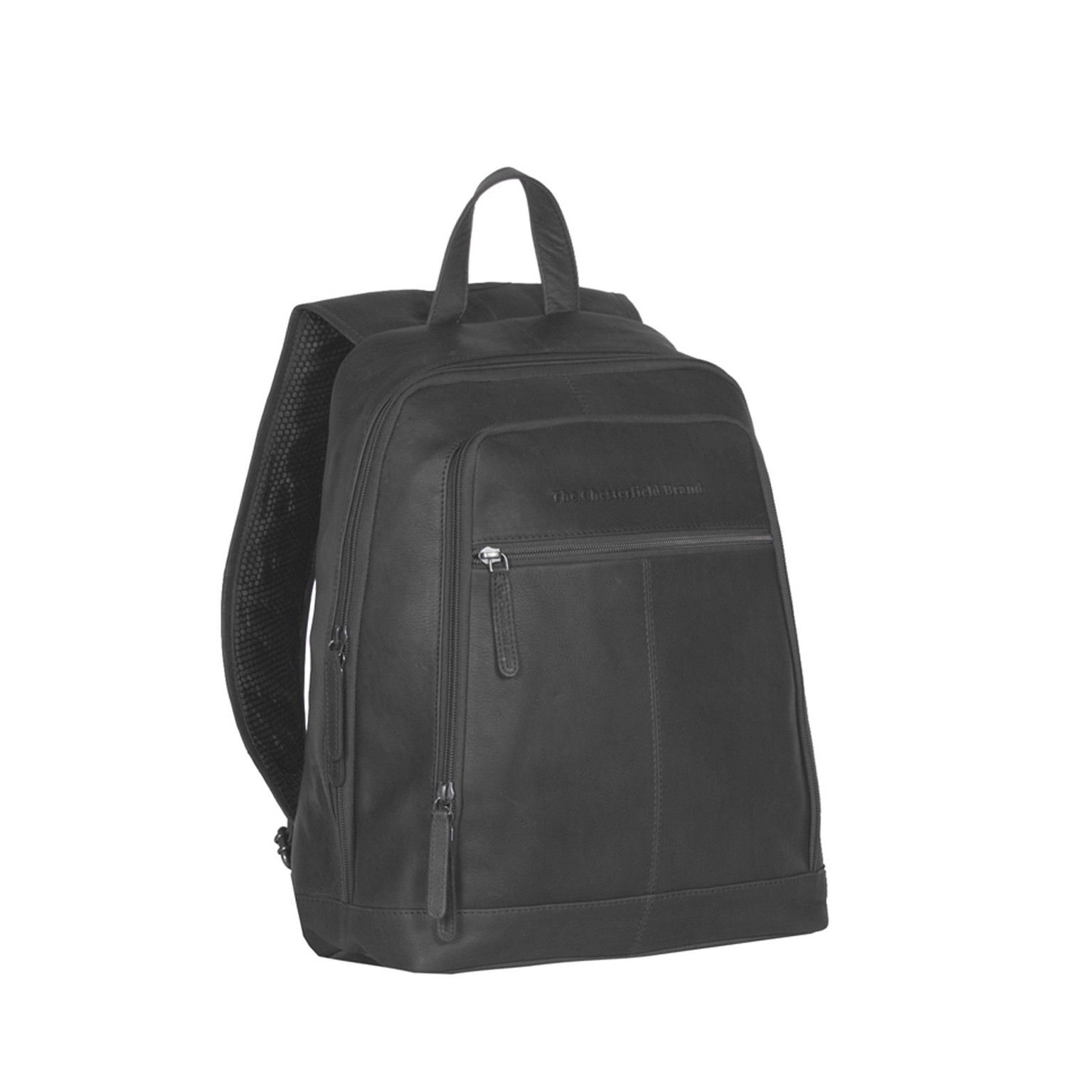 Image de Chesterfield Leather Backpack Black James