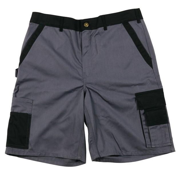Werkbroek kort Gevavi GW03 grijs/zwart