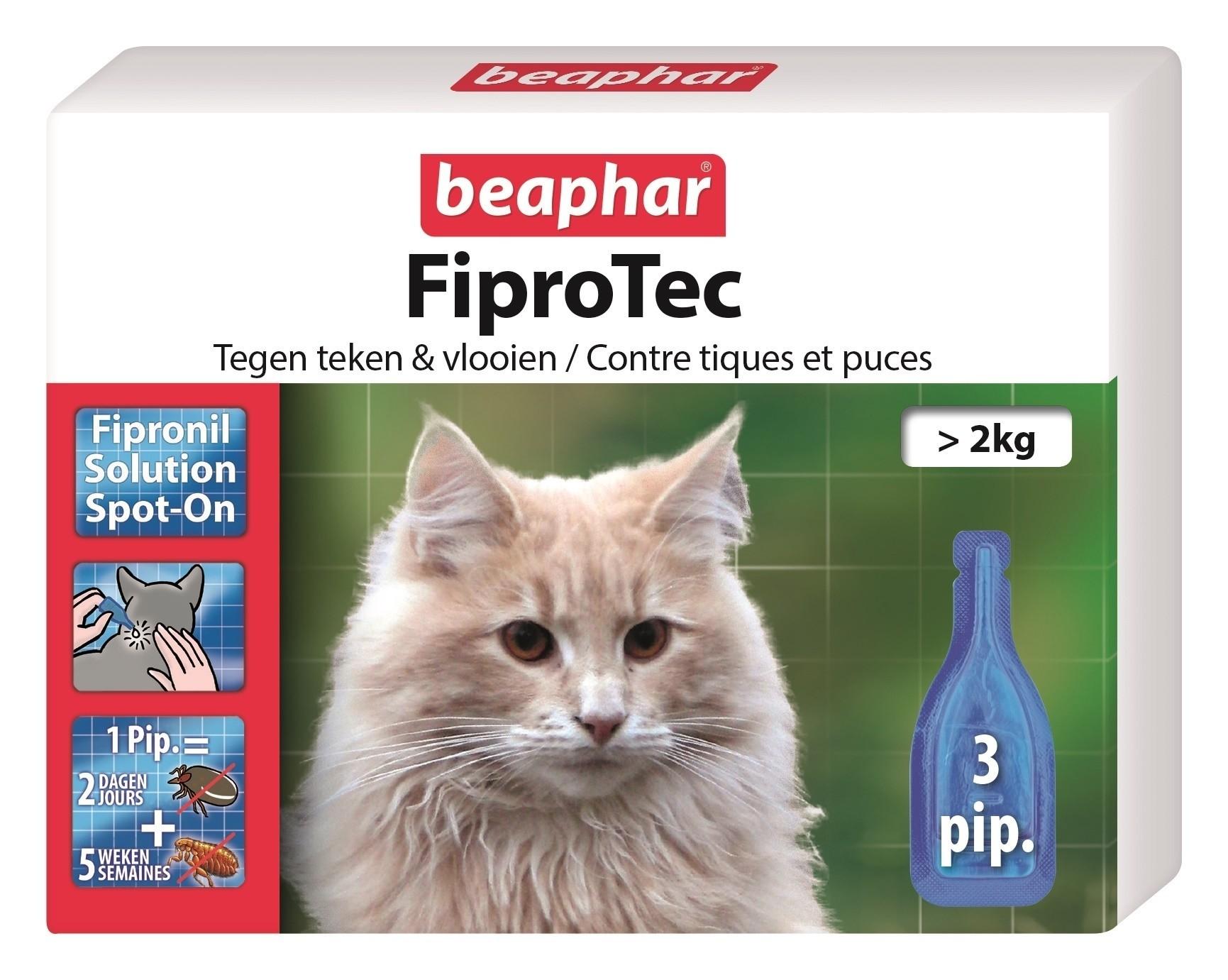 Beaphar Fiprotec kat vlooien/teken 3 pipet