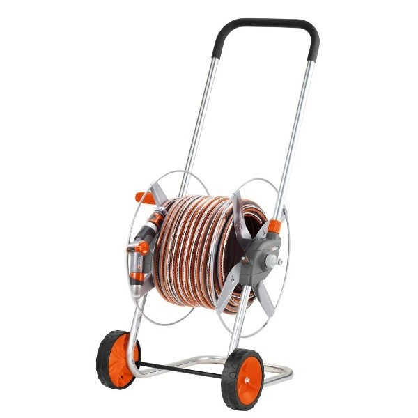 Metalen slangenwagen 60 Gardena compleet met tuinslang