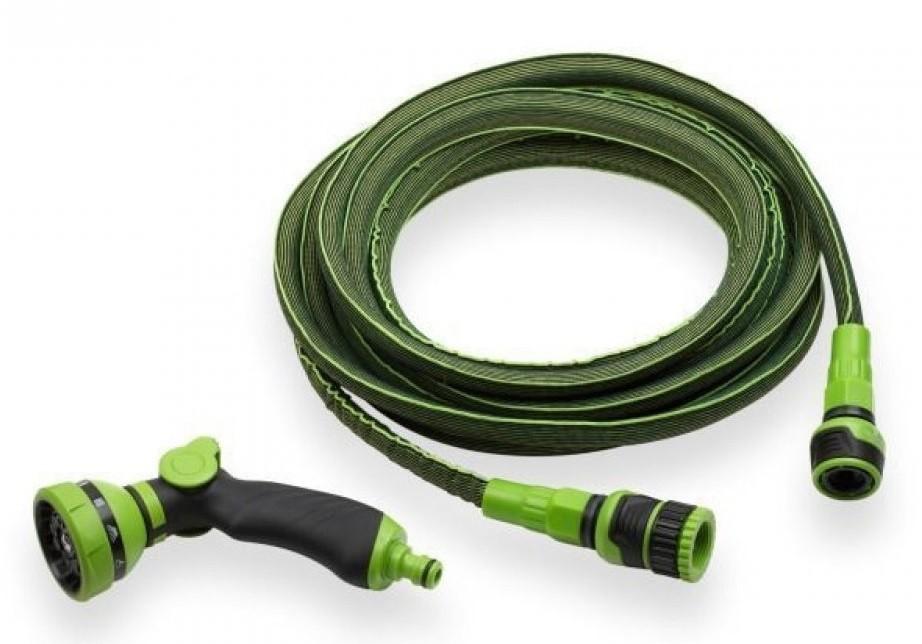 Flexibele tuinslang 'strech' groen 7.5 tot 15mtr