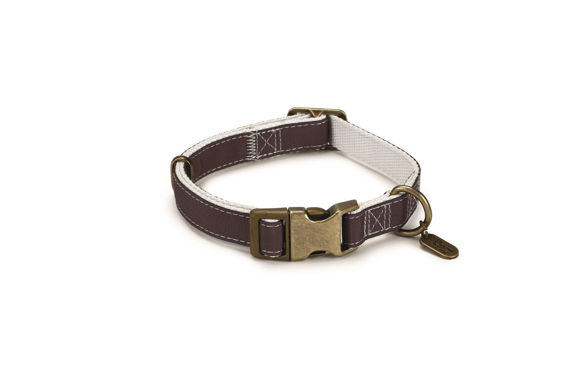 Hondenhalsband Virante nylon Beeztees bruin