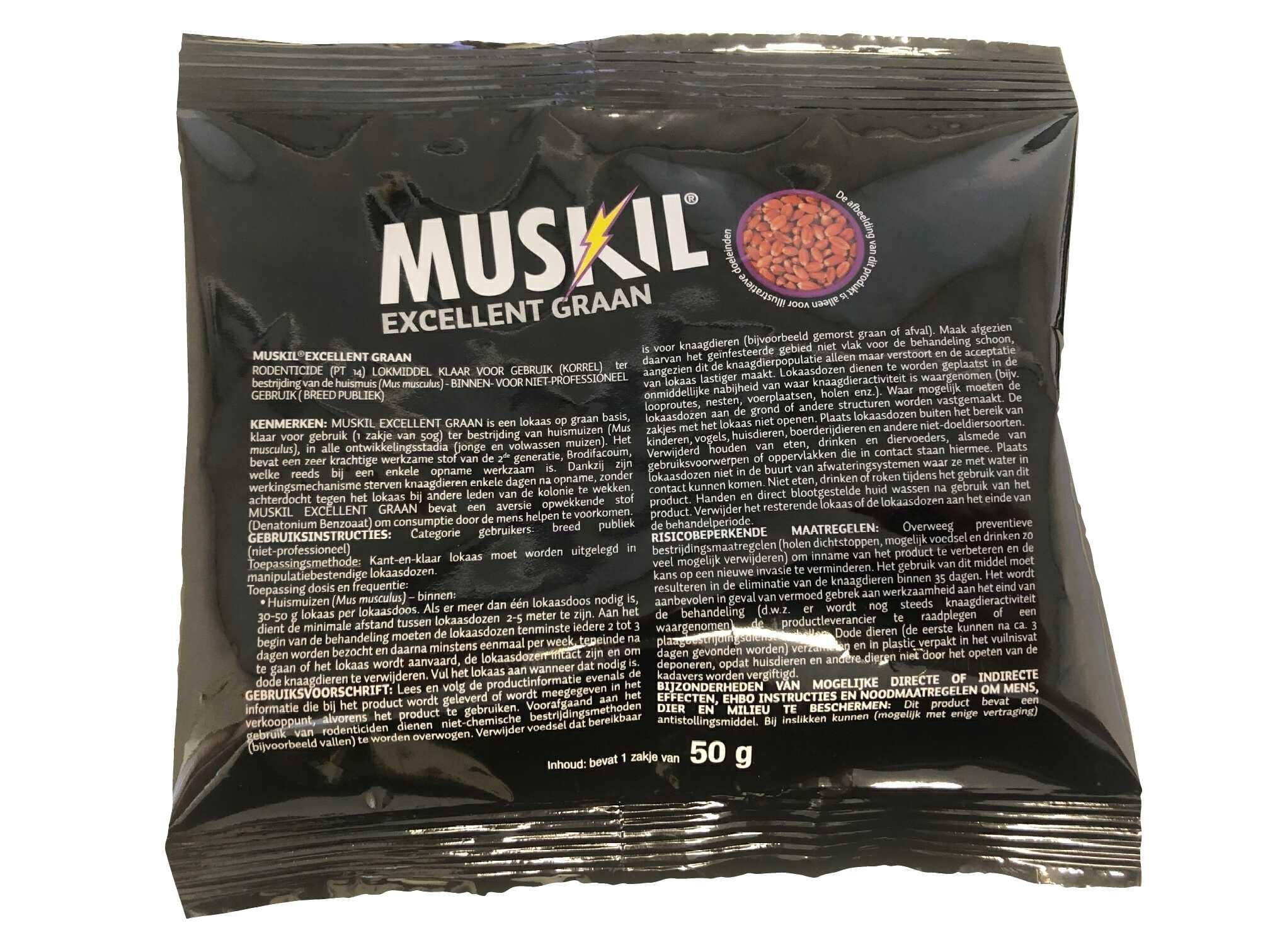 Muskil Excelent graan muizengif 50gr