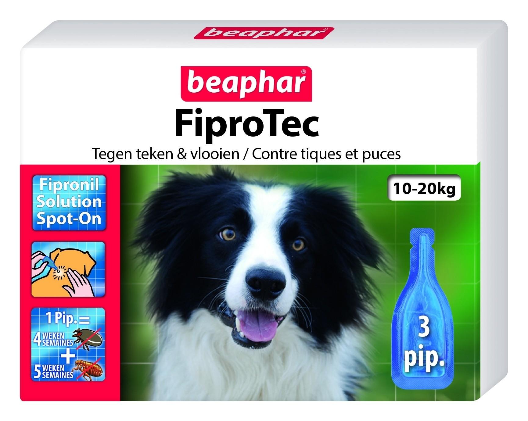 FIiprotec hond vlooien/teken 10-20kg 3 pipet