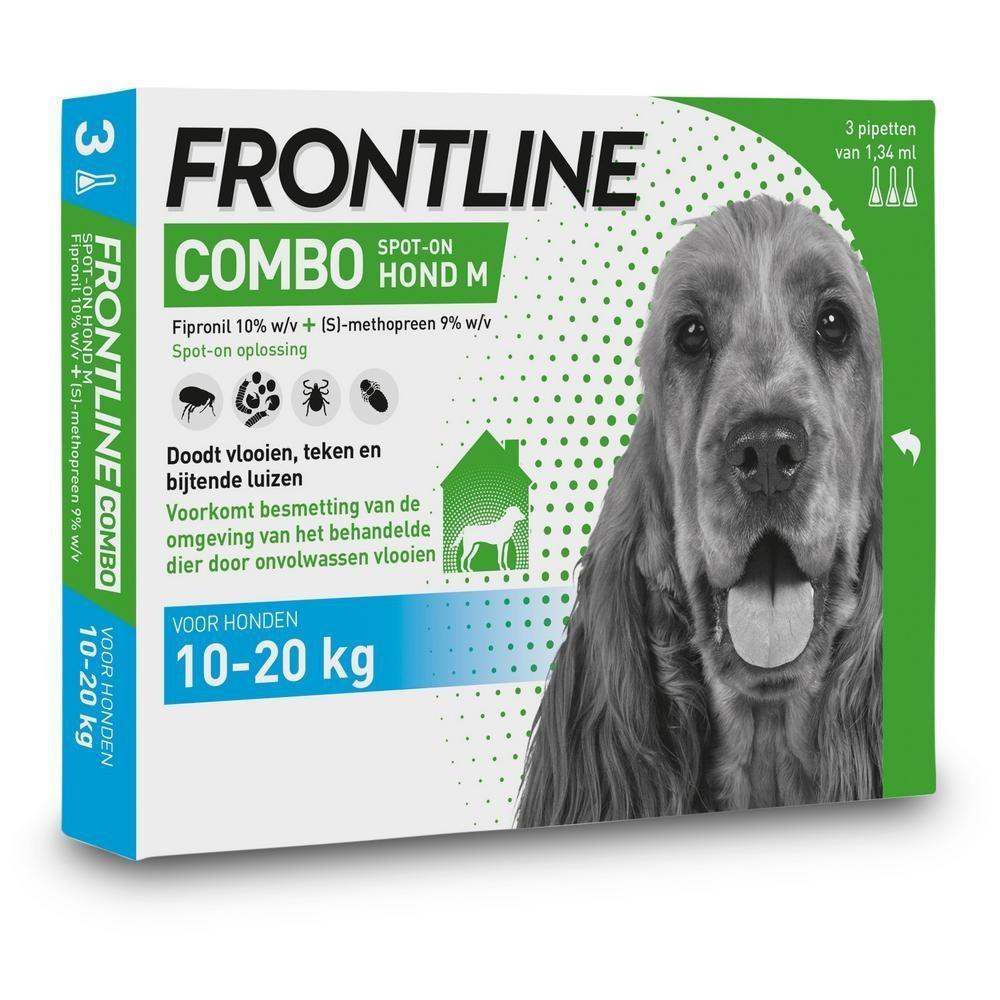 Frontline Combo spot on Hond Medium 10-20kg 3 pipet