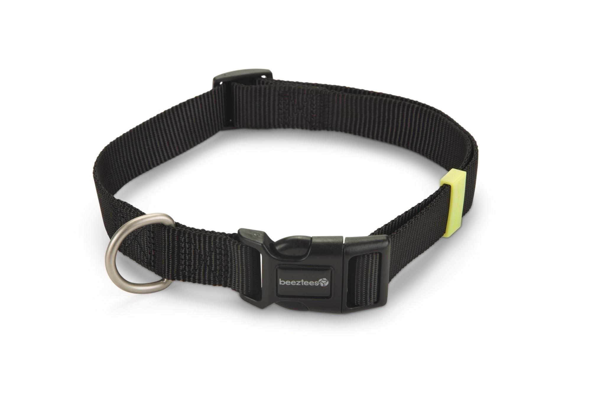 Hondenhalsband Uni nylon Beeztees zwart