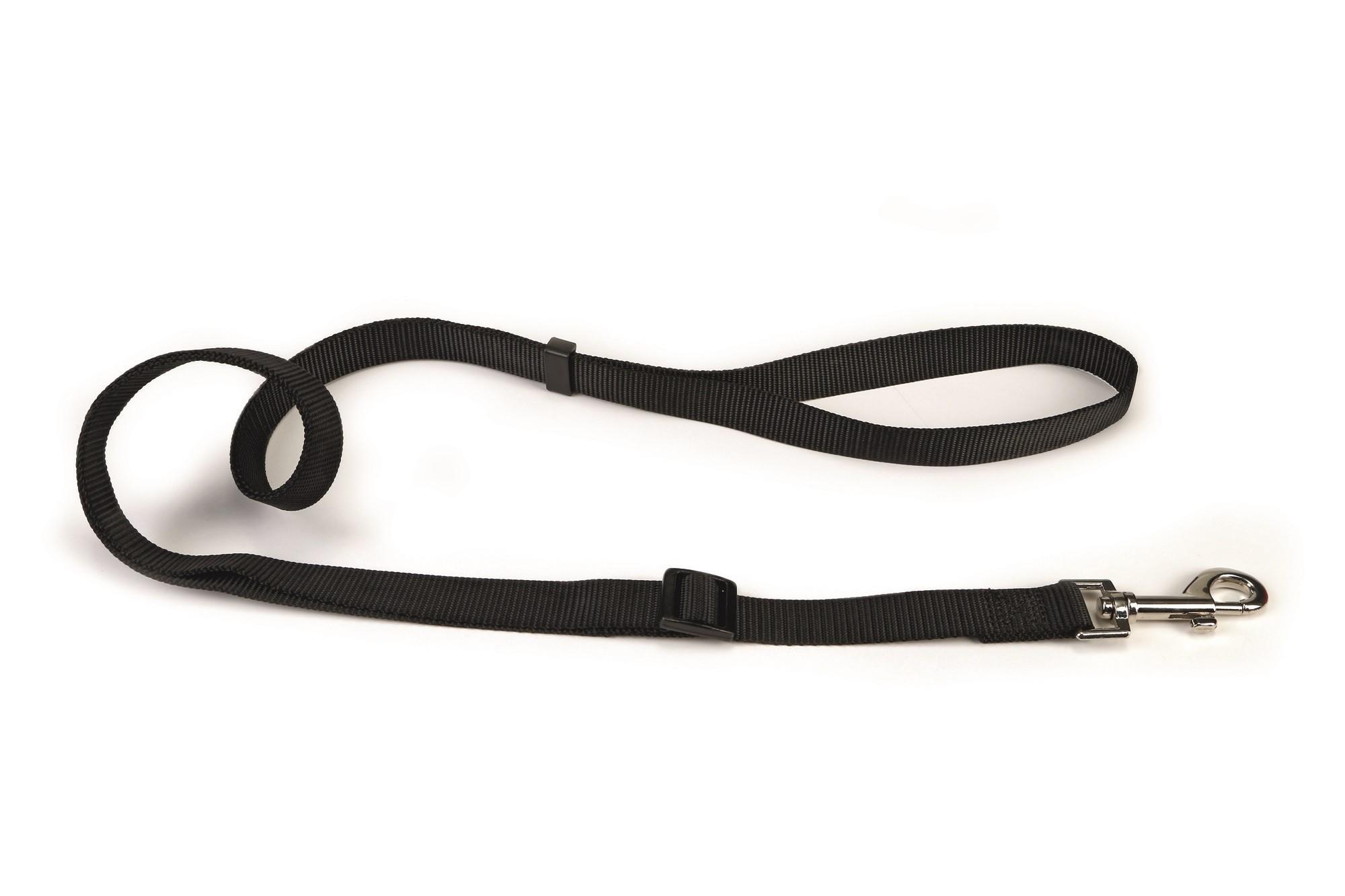 Hondenlooplijn nylon verstelbaar Beeztees zwart