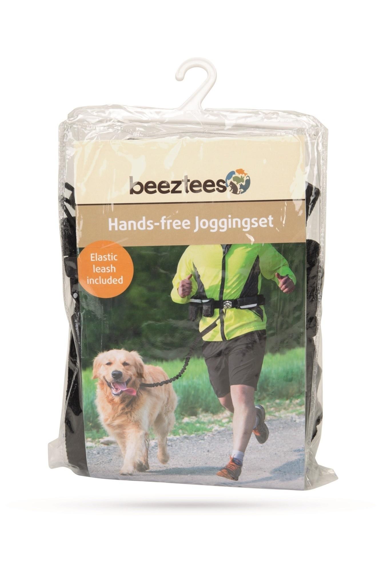 Handsfree joggingset nylon Beeztees zwart