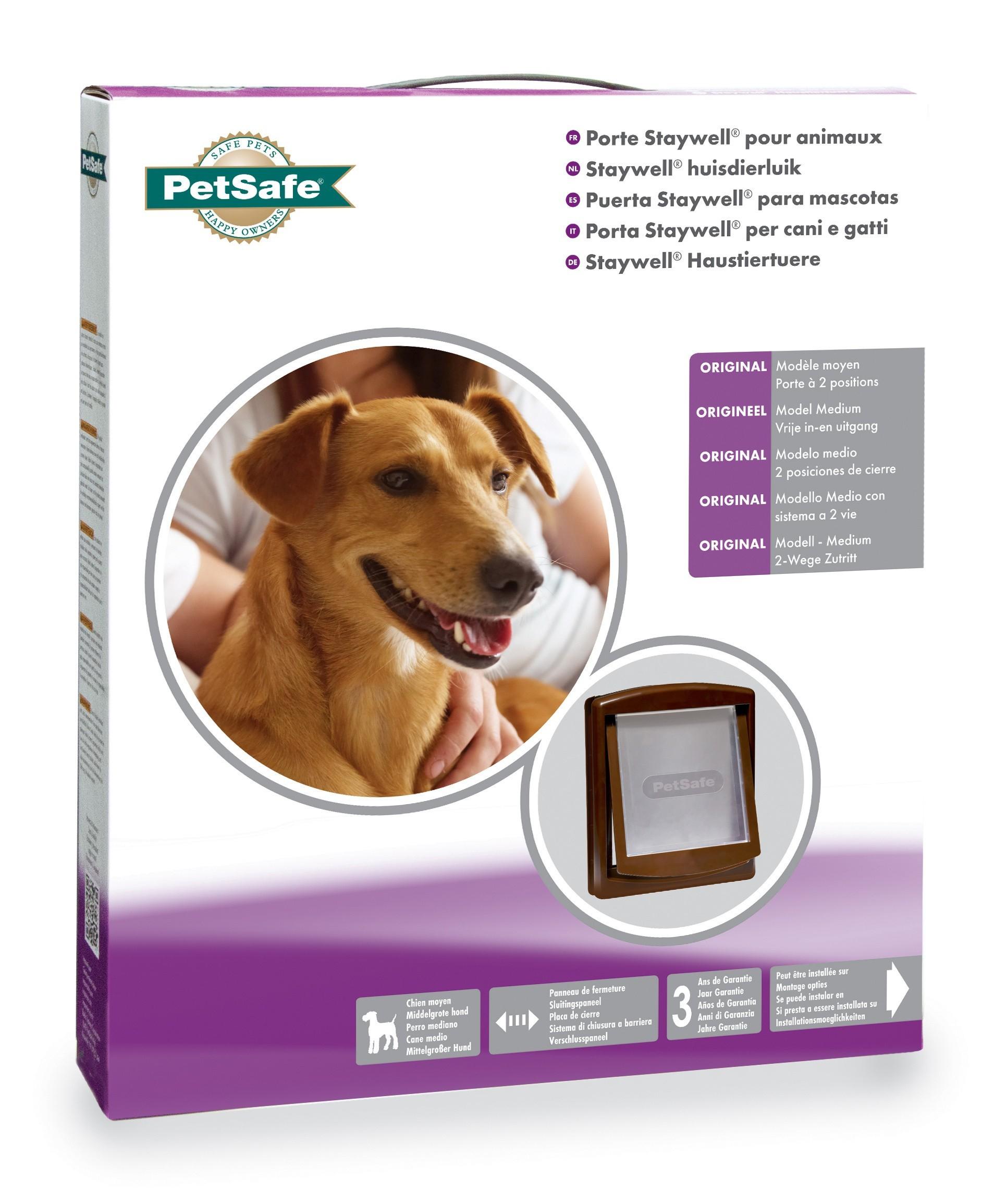 Hondenluik Petsafe 755 Medium bruin