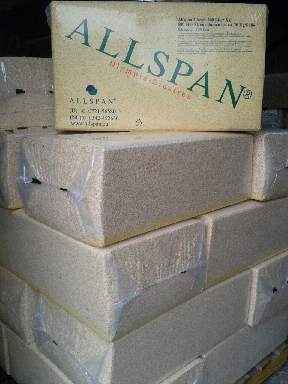 Houtvezels / Houtkrullen Allspan 26kg 10 stuks